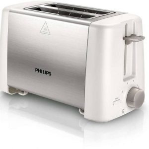 Philips  800 W Pop Up Toaster (White)